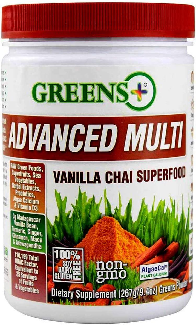 Greens+ Advanced 流行 永遠の定番 Multi Vanilla Blend Chai Superfood Essential