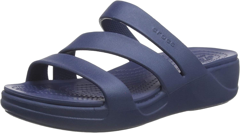 Crocs Women's Monterey Strappy Wedge | Wedge Sandals for Women