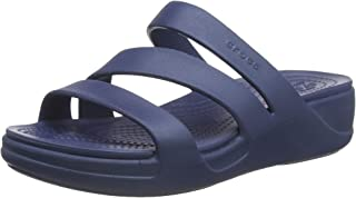 Crocs Monterey Strappy Wedge, Sandales Bout Ouvert Femme