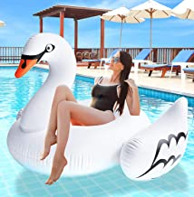 Greenco Giant Inflatable Swan Pool Float Lounger, 69