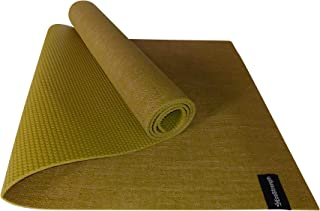 EcoStrength Moss Green Hemp and Jute Yoga Mat Eco-Friendly Non-Toxic Organic Jute and Hemp - Anti-Slip - All Types Yoga - Vegan Mat Yoga