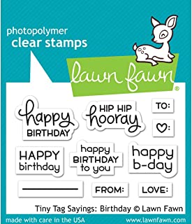 Lawn Fawn LF1421 Tiny tag sayings: birthday clear stamps
