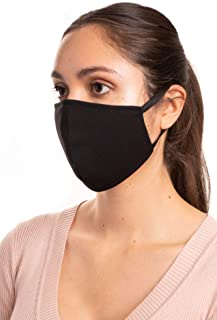 Aulin� Collection Made in USA Fabric Washable Reusable Fashion Face Mask, Black