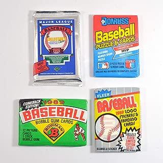 1989 Baseball Pack Lot Fleer Upper Deck Donruss Bowman Possible Ken Griffey Jr.