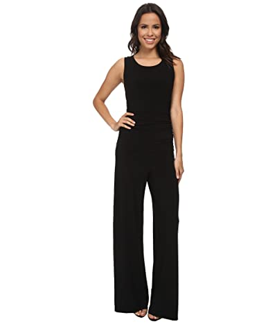 KAMALIKULTURE by Norma Kamali Sleeveless Shirred Waist Jumpsuit (Black) Women