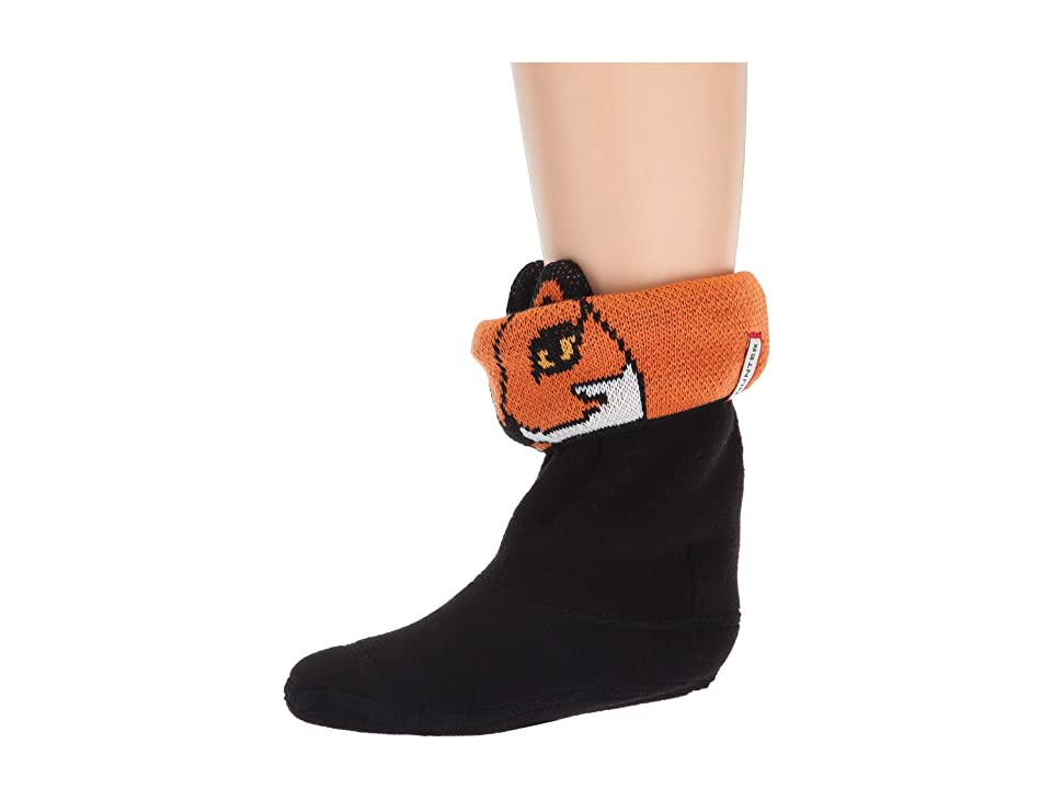 Hunter Kids Cheeky Fox Cuff Boot Sock (Toddler/Little Kid/Big Kid) (Cheeky Fox) Kids Shoes, Black