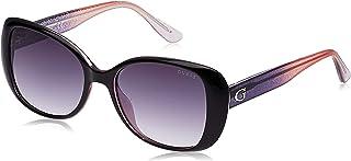Guess Butterfly Sunglasses for Women - Gradient Smoke Lens, GU7554-05B