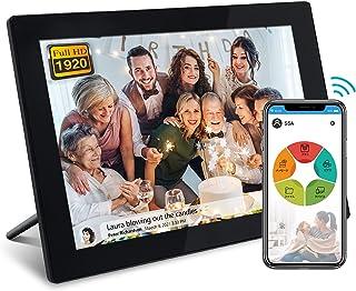 moonka wifi デジタルフォトフレームwifi対応 画面10.1インチ 1920*1200 FHD タッチパネル 写真や動画再生 スライドショー IPS タッチパネル 広角視野 無料アプリ プレゼント用 日本語説明書