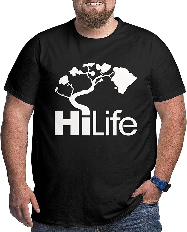 Hawaii Hi Life Beautiful Art Mans Simple Big Size Summer Outdoor Short Sleeve Round Collar Tshirts