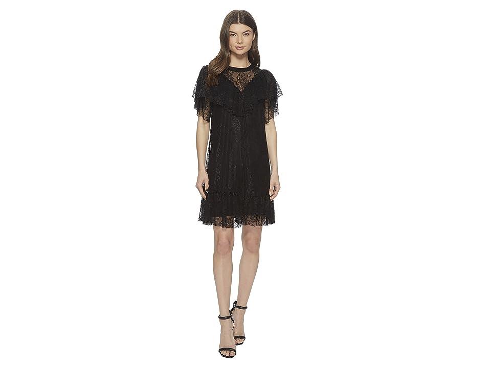 kensie Fine Stretch Dress KS3K8176 (Black) Women