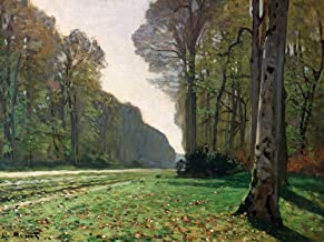 Feeling at home Art-Print-ON-Paper-Le-Pave-de-Chailly-Monet,-Claude-Landscape-31_X_42_inch-Fine-Art-Image-for-Frame-Wall-decore