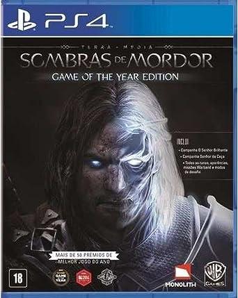 Terra Média: Sombras de Mordor - Edição Jogo do ano - PlayStation 4