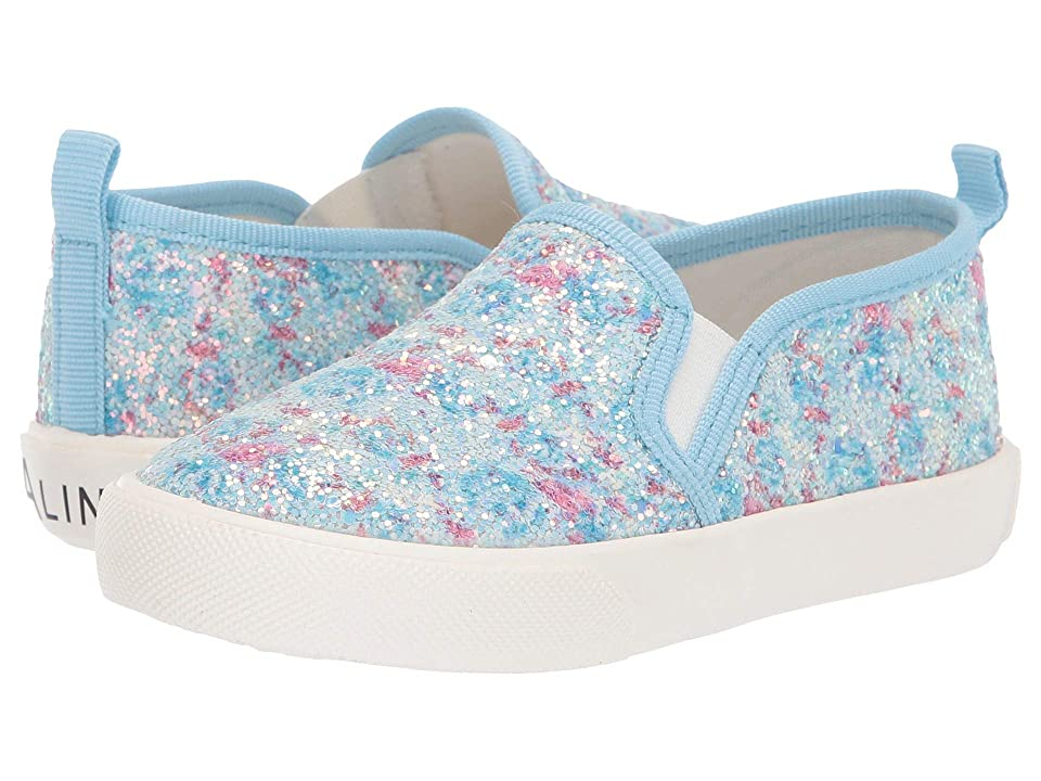 Amiana 6-A0864 (Toddler/Little Kid/Big Kid/Adult) (Blue Floral Glitter) Girls Shoes