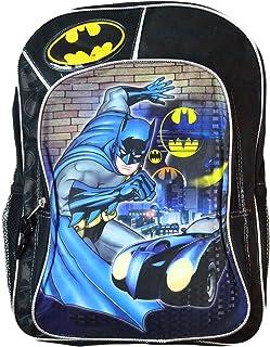 """Batman 16"""" Backpack Large, Black"""