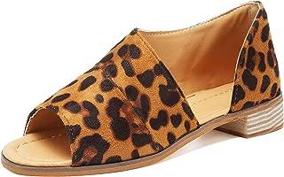 2019 Women Summer Sandals Open Toe Cutout Asymmetrical Slip On Flat Sandals Low Heel Bootie Loafers Shoes