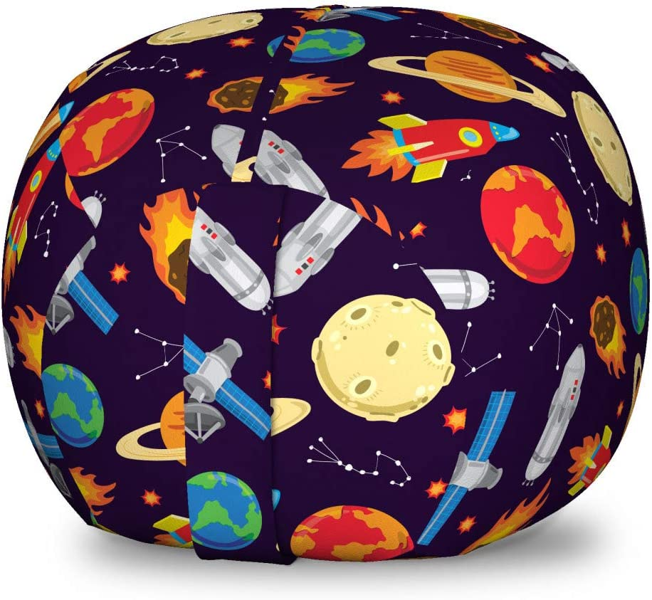 Ambesonne Washington Mall Space Outlet sale feature Storage Toy Bag Illustrat Universe Themed Chair