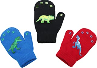 3 Pack - Magic Stretch Winter Mittens for Boys, Kids,...