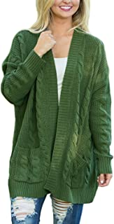 Dokotoo Womens Fashion Open Front Long Sleeve Cardigans Sweater Pocket