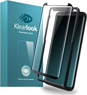 Klearlook Galaxy S8 Plus用強化ガラスフィルム 「改善版 貼付け易い道具付」 「ケースに干渉せず」 タッチ感度良好 高透過率 (ガラス液晶面1枚+背面1枚+ガイドツール )