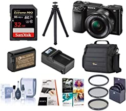 Sony Sony Alpha A6000 Mirrorless Camera with 16-50mm Lens Kit + 32GB Class 10 SDHC Card + Camera Bag + Spare Battery + Compact Charger + Filter Kit + Cleaning Kit + Corel PC Suite Software and More