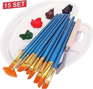 Pincel de Artista Cepillo Pintura Artist Cepillos Mixtos Profesionales Pinceles de 9 Piezas para Acuarela Acr/ílico /óleo Gouache Aceite