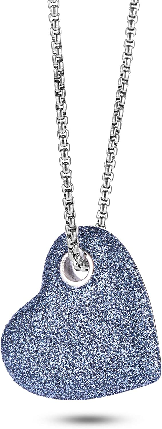 NanoStyle Heart Necklace Mineral Max 54% OFF Stardust Love Sideways Pendant Very popular