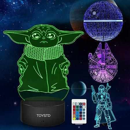 Star Wars Cadeau Lampe 3d Illusion Veilleuse, Quatre Motifs Et 7 Couleurs Changeantes De Décoration - Cadeaux Parfaits Pour Les Fans De Star Wars, Garçons et Filles