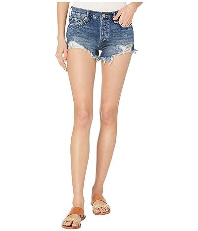 Free People Loving Good Vibrations Shorts (Dark Denim) Women