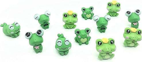 12 Pcs Resin Mini Frogs Cute Frog Miniature Figurines Animals Model Fairy Garden Miniature Moss Landscape DIY Terrarium Cr...
