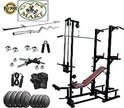 FitCrat Fitness (GymMart Industris) 30Kg Weight Plates, 5Ft Rod, 3Ft Rod, 2 D.Rods Home Gym Dumbell Set