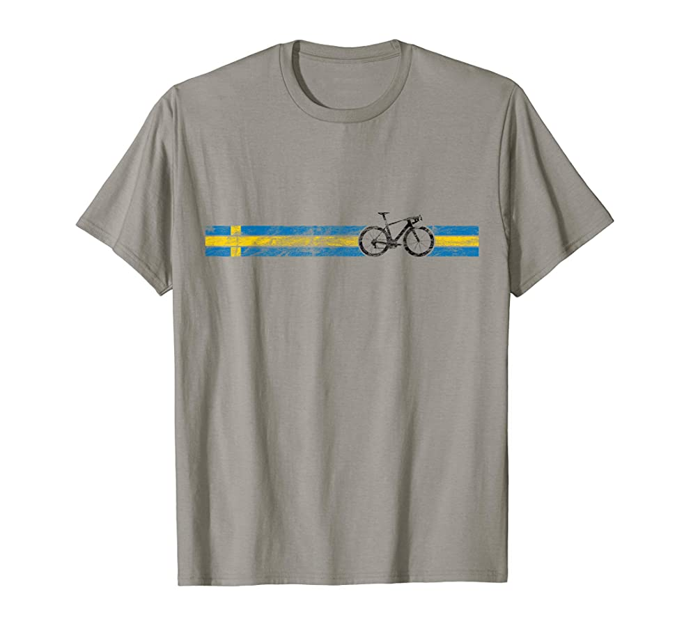 Cyclist Flag Sweden T-Shirt Swedish Bike Racing Cycling Tee