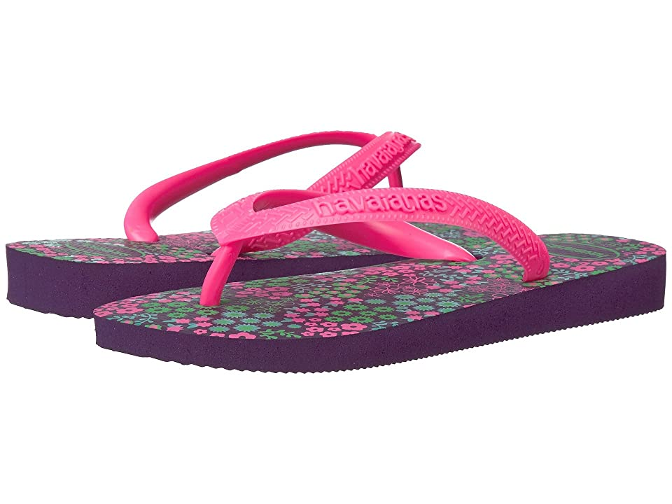 Havaianas Kids Flores Sandals (Toddler/Little Kid/Big Kid) (New Purple) Girls Shoes