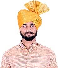 KALAPURI Traditional Cotton Yellow Colored Pheta (Turban/Safa/Pagdi) Good Quality Fabric/Cloth for Men