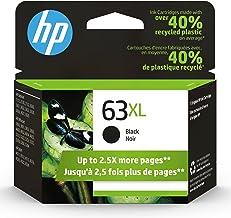 Original HP 63XL Black High-yield Ink Cartridge | Works with HP DeskJet 1112, 2130, 3630 Series; HP ENVY 4510, 4520 Serie...