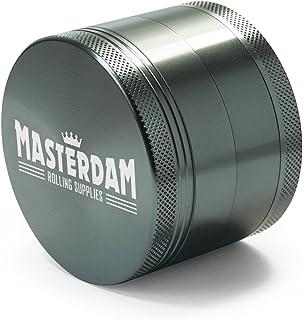 comprar comparacion MasterGrind Shield 4 –Molinillo de hierbas aromáticas con pantalla de micras para hierbas y tabaco (aluminio), color gris...