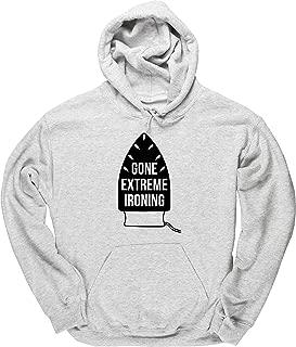 Gone Extreme Ironing Housework Men's Hoodie Hooded top Grey