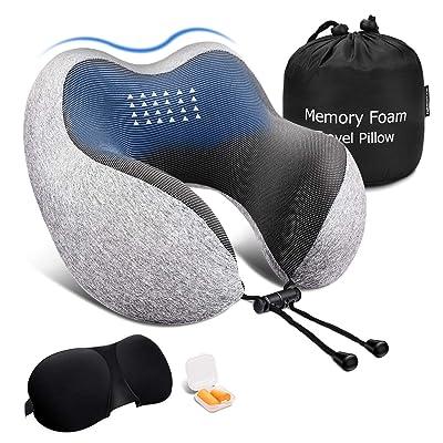 Keenstone Travel Pillow, Memory Foam Neck Pillo...