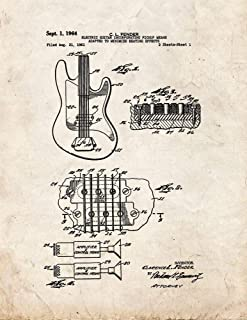 Clarence Fender Electric Guitar Patent Print Old Look (5
