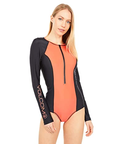 Volcom Simply Solid Bodysuit (Electric Coral) Women