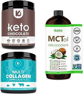 KEPPI X3 Health Bundle - MCT Oil, Exogenous Ketones and Multi Collagen Protein Powder