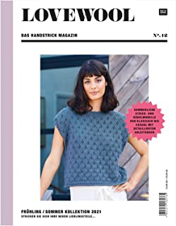 Le magazine à tricoter à la main de Rico Design Lovewool n° 12 - Collection printemps/été 2021.