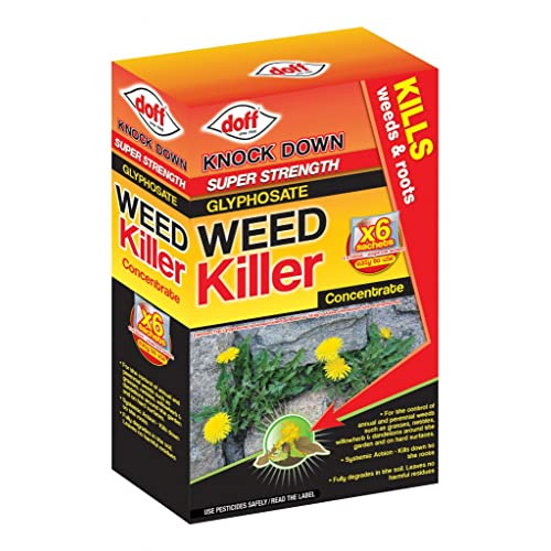 Doff Knock Down Super Strength Weed Killer - Box contains 6 sachets of 100ml Sachets