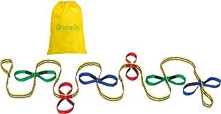 Grab & Go Children's Walking Rope (12 Child) - Pre-K Teacher Designed Safety Walk Rope for Preschool Kids. Includes Free Learning Games for Walks Guide.