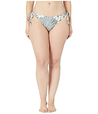 Volcom Plus Size So Tropical Tie Side (White) Women