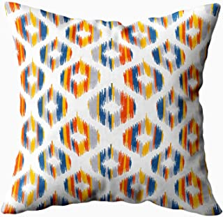 Decorative Pillow Covers,EMMTEEY 16x16 Pillow Covers Home Throw Pillow Covers for Sofa abstract geometric african american art aztec background blouse boho border canvas cloth c Square Double Sided Pr