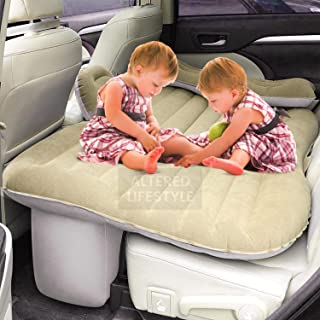 ALTERED LIFESTYLE CAR BED Inflatable Car Air Mattress with Pump (Portable) Travel, Camping, Vacation | Back Seat Blow-Up S...