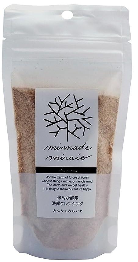 不公平目の前の気難しいみんなでみらいを 100%無添加 米ぬか酵素洗顔クレンジング 詰替えパック 85g×3袋