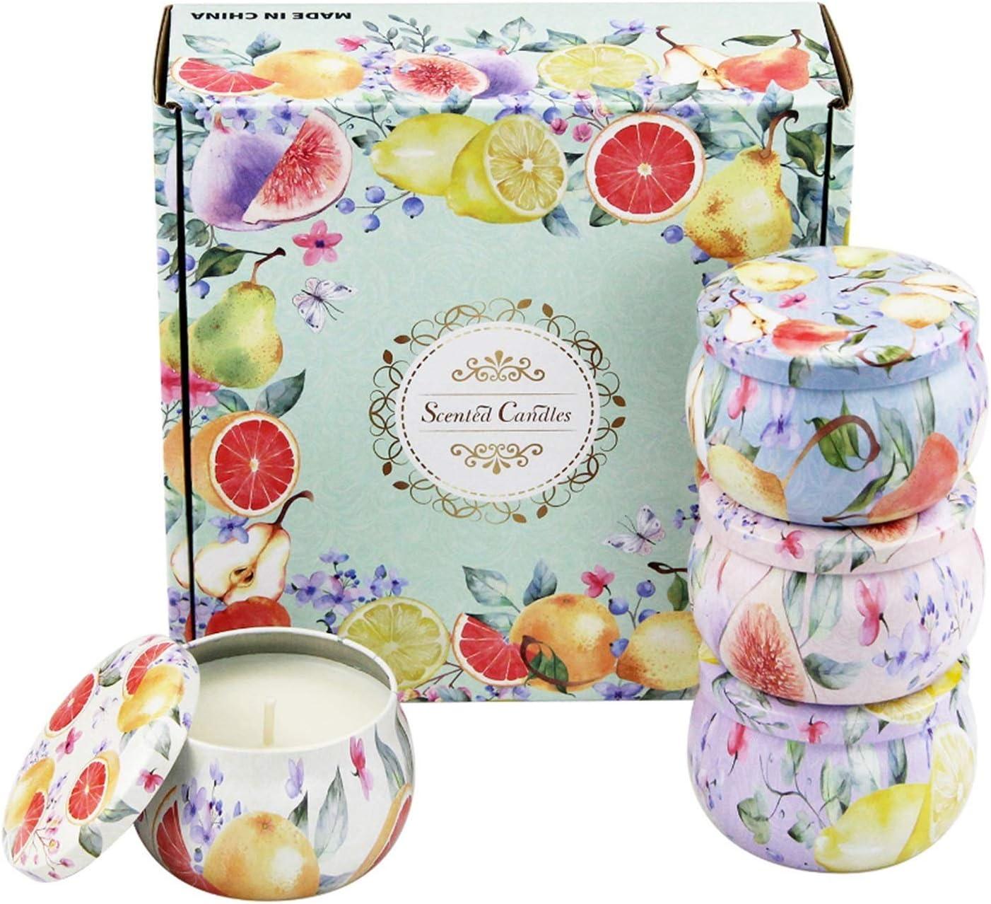JINYAWEI Tulsa Mall Scented Candles Candle free Gift Na Set 4pcs