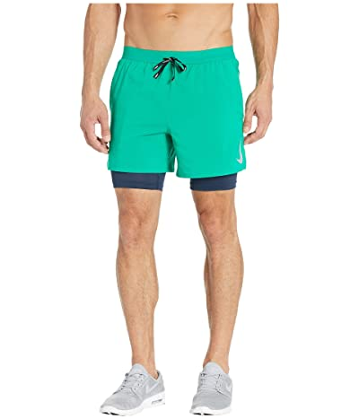 Nike Flex Stride Shorts 5 2-in-1 (Lucid Green/Obsidian/Reflective Silver) Men