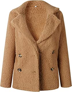 Surprise S Winter Lamb Wool Jacket Women Coatcasual Pink Black Button Jacket Overcoat